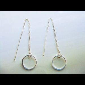 Jewelry - Sterling silver minimalist ear threads